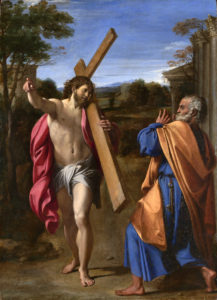 Full title: Christ appearing to Saint Peter on the Appian Way Artist: Annibale Carracci Date made: 1601-2 Source: http://www.nationalgalleryimages.co.uk/ Contact: picture.library@nationalgallery.co.uk Copyright © The National Gallery, London