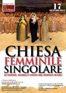 2013 Chiesa femminile singolare